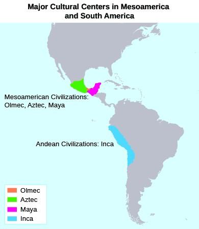 Location of Mesoamerican civilizations