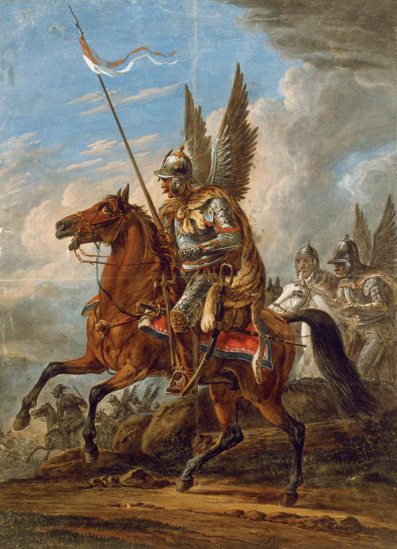 A Winged Hussar flies into battle
