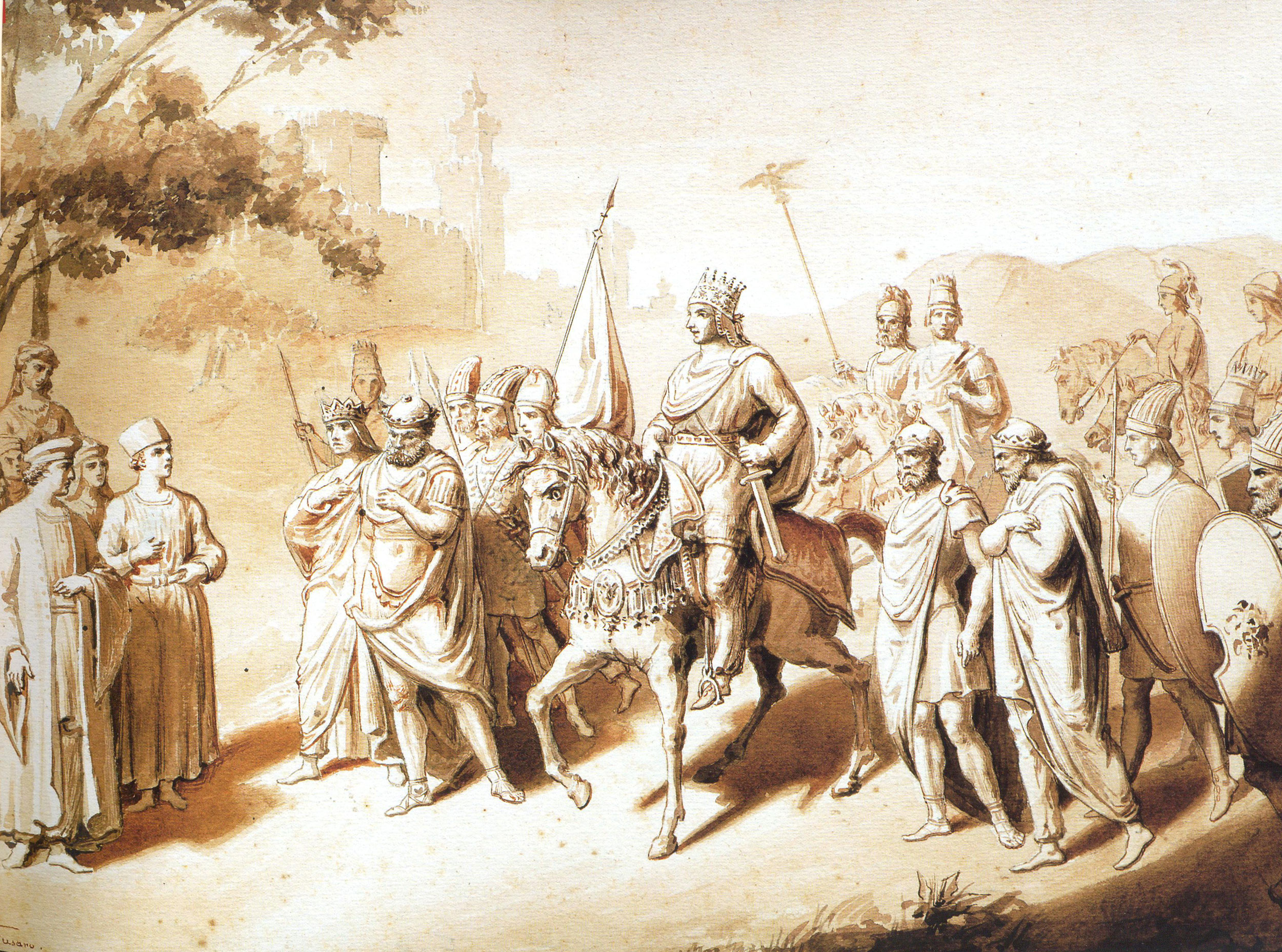 A painting of Armenian King, Tigranes the Great - King of Kings