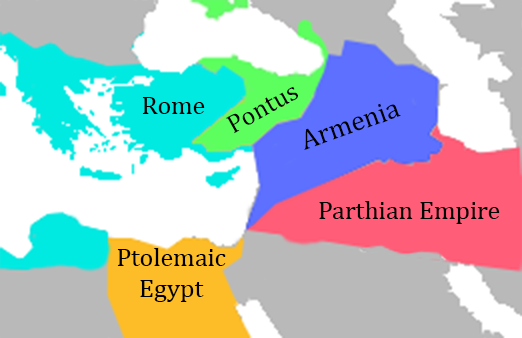 Middle East Roughly 70BC