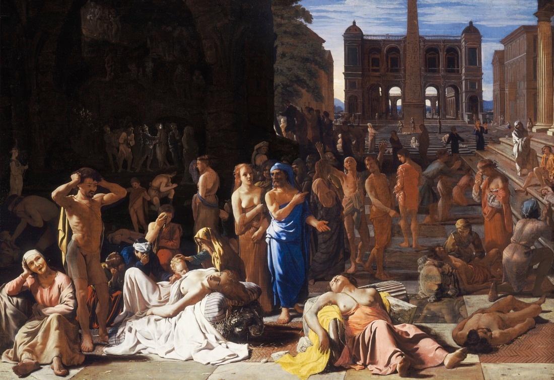 """""""Plague of an Ancient City"""" - A medieval painting believed to depict the Plague of Athens"""