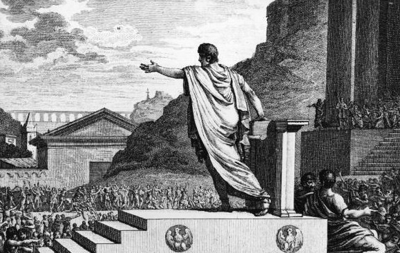 Gaius Gracchus in the Forum