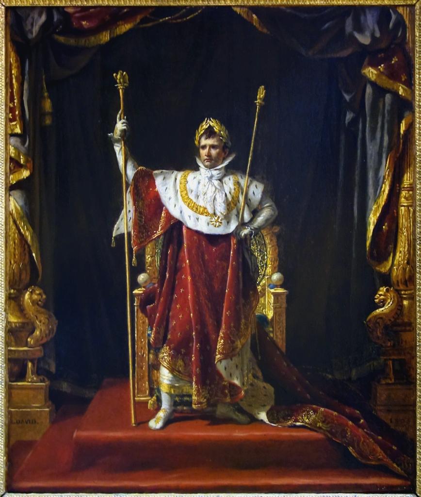 Napoleon Bonaparte in imperial regalia